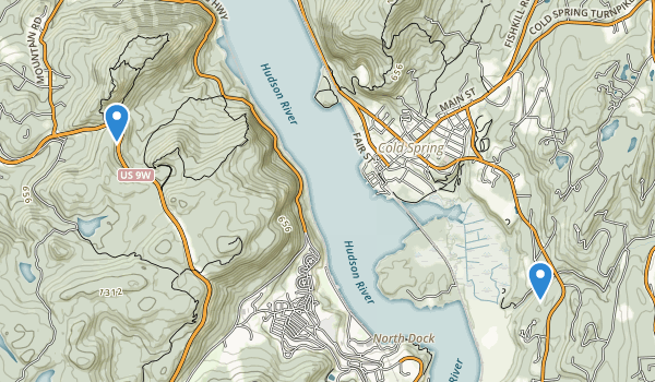 trail locations for Storm King State Park