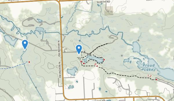 Proud Lake Recreation Area Map