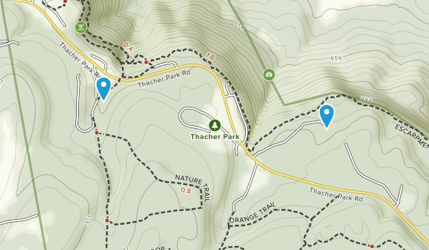 Thacher State Park (John Boyd Thacher) Map