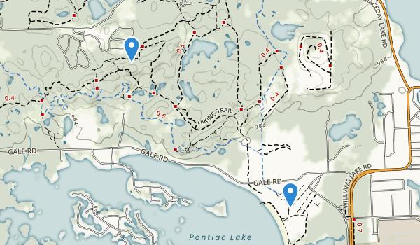 Pontiac Lake Recreation Area Map
