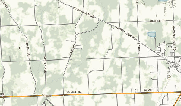 Wetzel State Recreation Area Map