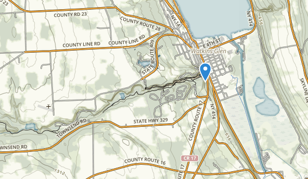 trail locations for Watkins Glen State Park