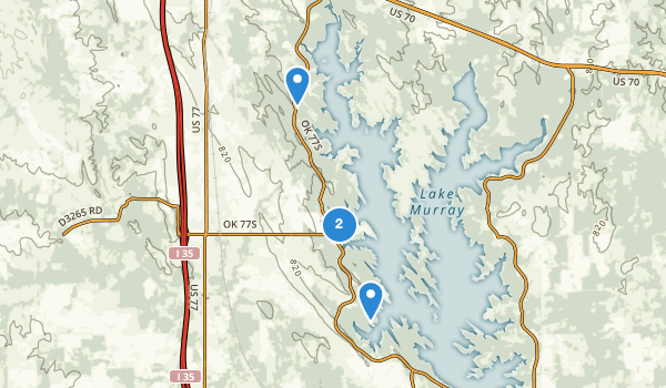 trail locations for Lake Murray State Park & Lodge