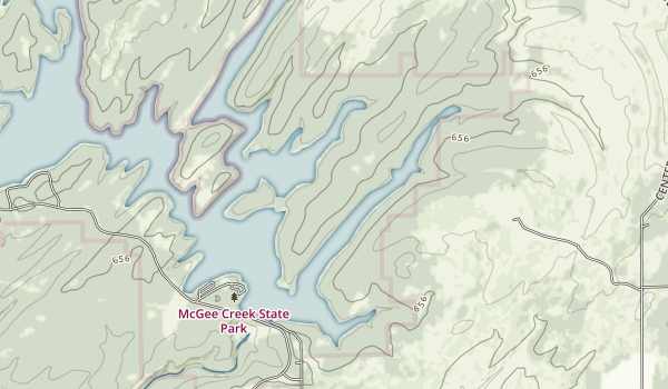 McGee Creek State Park Map