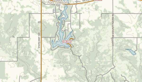 Raymond Gary State Park Map