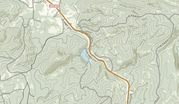 Clayton Lake State Park Map