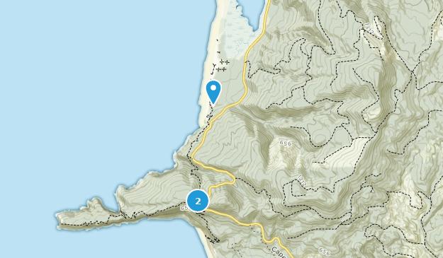 Parque estatal Cape Lookout Map