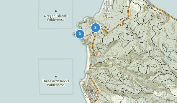 trail locations for Cape Meares State Scenic Viewpoint