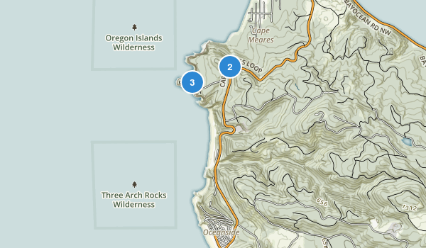 Cape Meares State Scenic Viewpoint Map