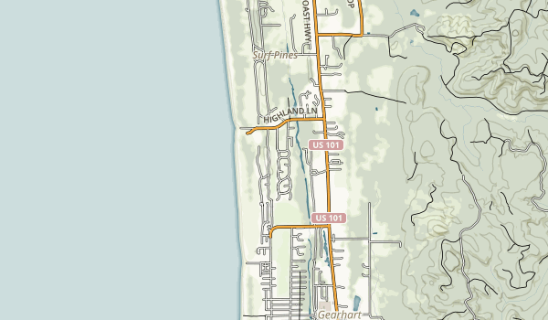 Del Rey Beach State Recreation Site Map