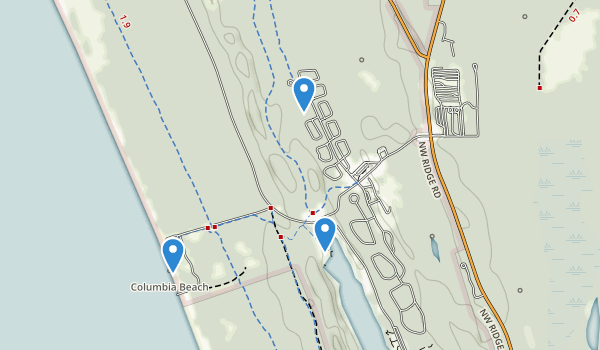 trail locations for Fort Stevens State Park