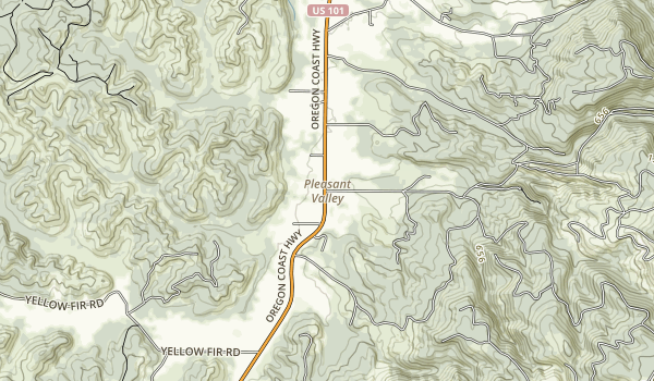 Munson Creek State Natural Site Map