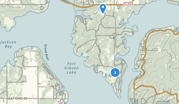 Sequoyah Bay State Park Map