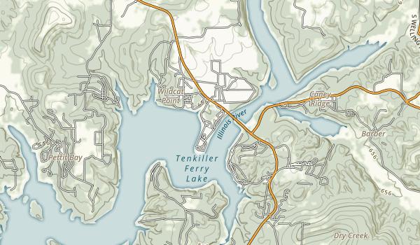 Cherokee Landing State Park Map