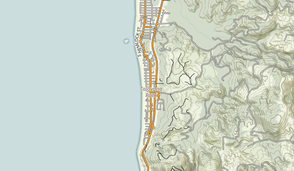 Tolovana Beach State Recreation Site Map