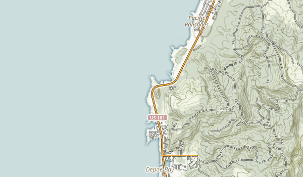 Boiler Bay State Scenic Viewpoint Map