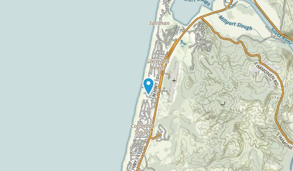 Gleneden Beach State Recreation Site Map