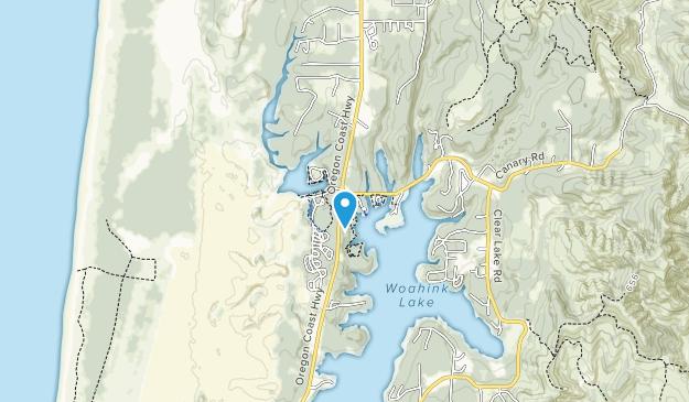 Jessie M. Honeyman Memorial State Park Map