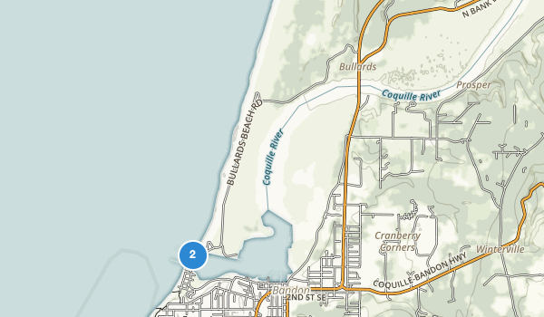 trail locations for Bullards Beach State Park