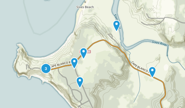 Cape Blanco State Park Map