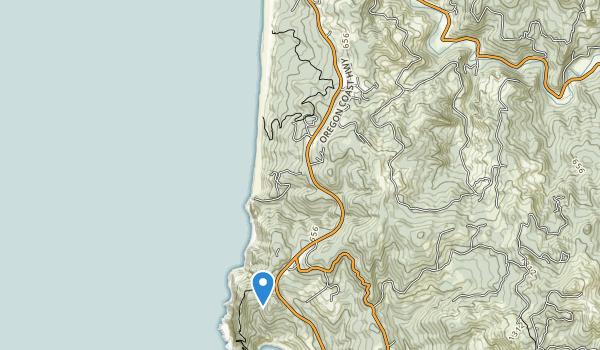 trail locations for Cape Sebastian State Scenic Corridor