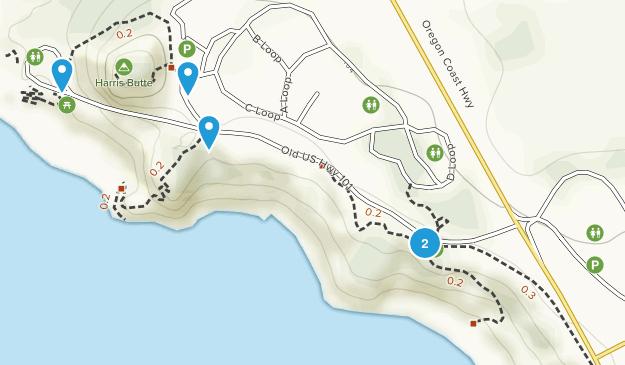 Harris Beach State Park Map