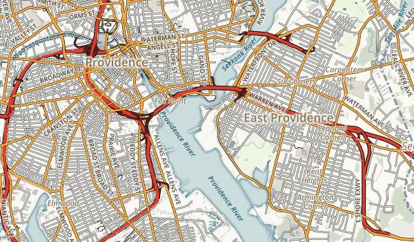 East Bay Bike path Map