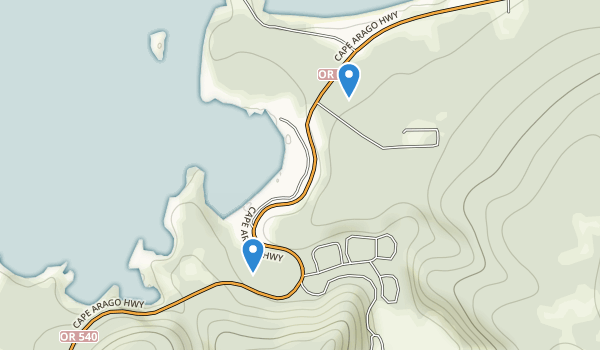 Sunset Bay State Park Map