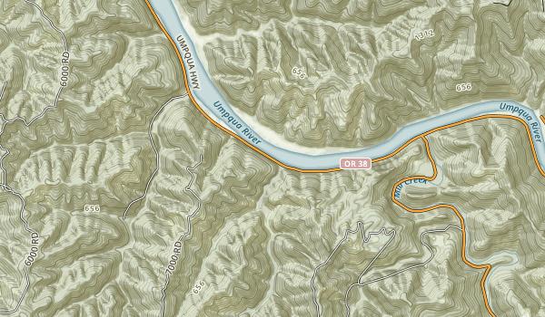 Umpqua State Scenic Corridor Map