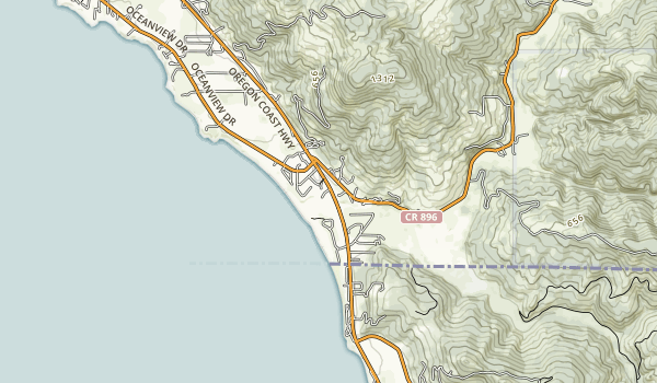 Winchuck State Recreation Site Map