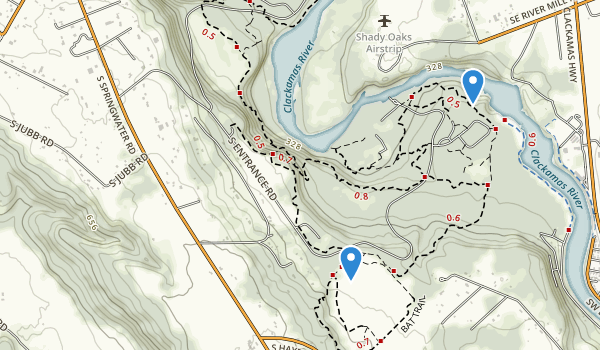 trail locations for Milo McIver State Park