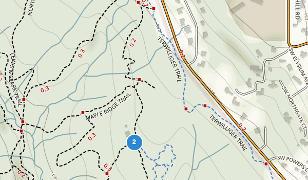 trail locations for Tryon Creek State Natural Area