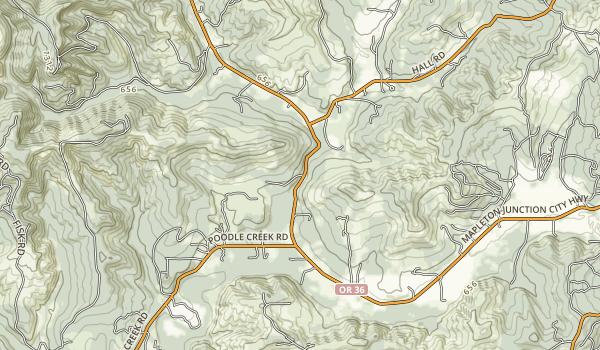 Alderwood State Wayside Map