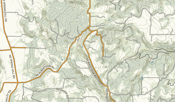 Bald Peak State Scenic Viewpoint Map