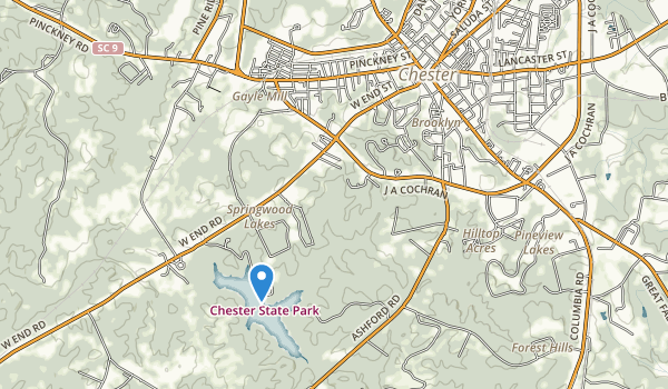 trail locations for Chester State Park