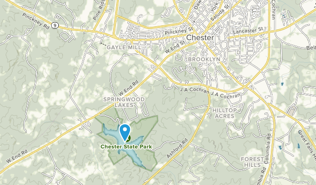 Parque Estatal de Chester Map