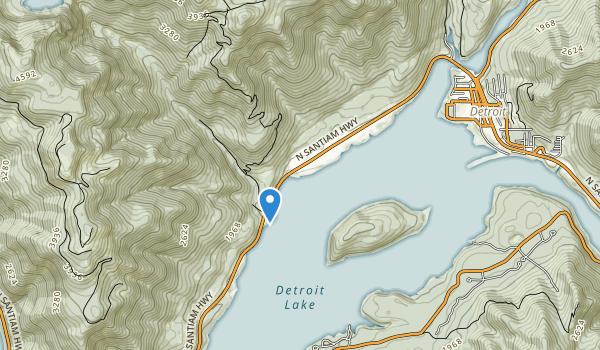 Detroit Lake State Recreation Area Map