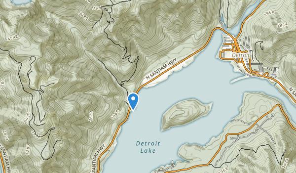 Detroit Lake State Recreation Area Map