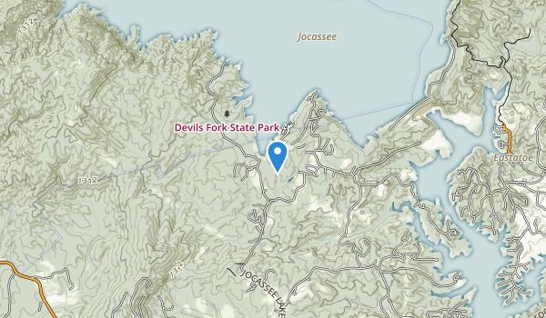 Devils Fork State Park Map