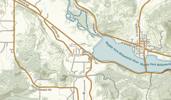 Dexter State Recreation Site Map