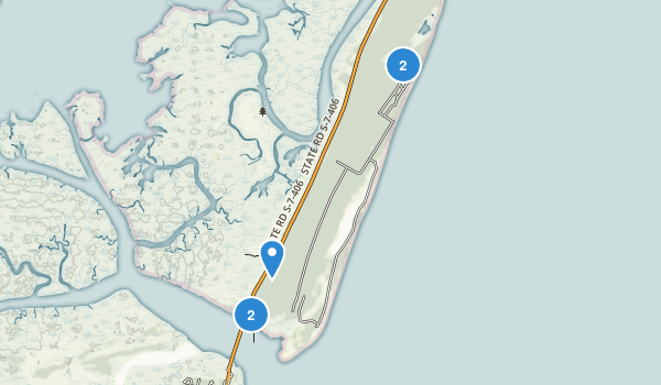 Hunting Island State Park Map