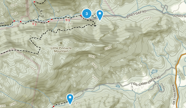 Jones Gap State Park/ Mountain Bridge Wilderness Area Map