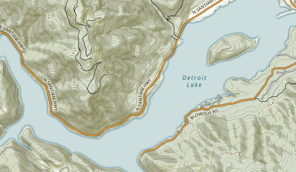 Mongold (Detroit Lake) Map