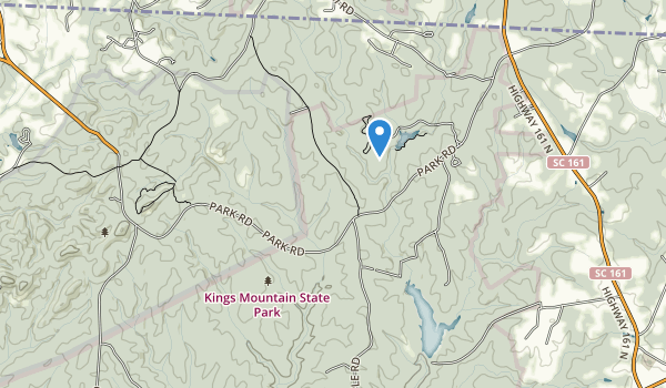 trail locations for Kings Mountain State Park