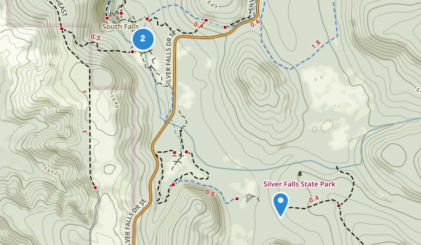 trail locations for Silver Falls State Park