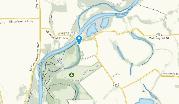 Willamette Mission State Park Map