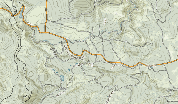 Tub Springs State Wayside Map