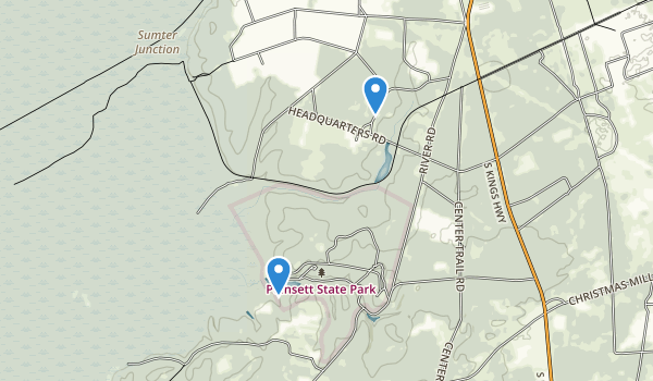 trail locations for Poinsett State Park