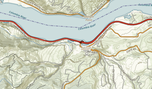 Historic Columbia River Highway State Trail Map