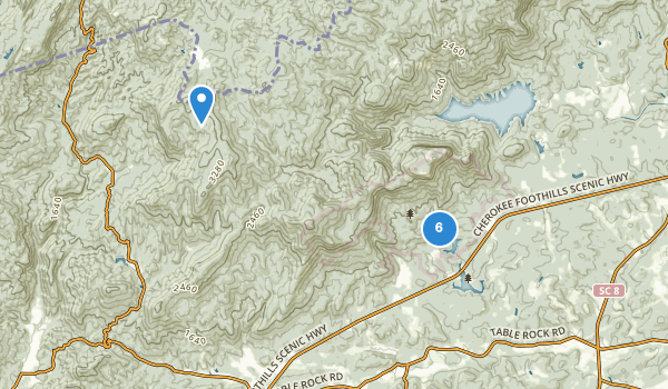 trail locations for Table Rock State Park